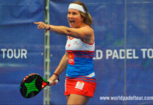 Estrella Damm Alicante Open 2018: Carolina Navarro, in azione (World Padel Tour)