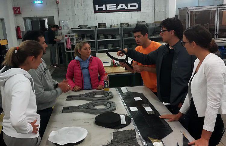 El Team HEAD conoce más de cerca las 'interioridades' de la marca