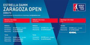 Guía para que nadie se pierda las rondas finales del Estrella Damm Zaragoza Open