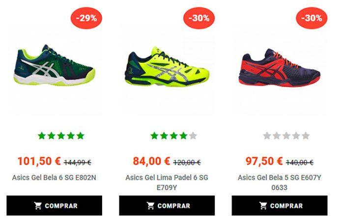 52dcd7bd0c6 Zapatillas ASICS: Una liquidación sin igual en Time2Padel | Página ...