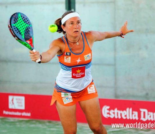 Carolina Navarro, en action au Melilla Open 2018