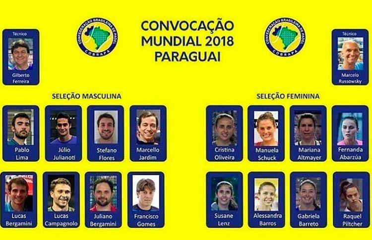 Brasil anuncia sus Selecciones para el Mundial 2018 de Paraguay