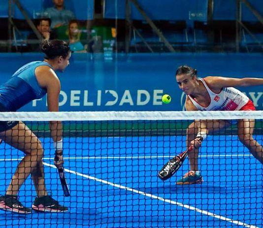 Oeiras Valley Portugal Padel Masters: Delfina Brea-Ana Catarina Nogueira, in azione