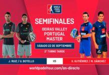 Oeiras Valley Portugal Padel Masters: Orden de Juego de Semifinales