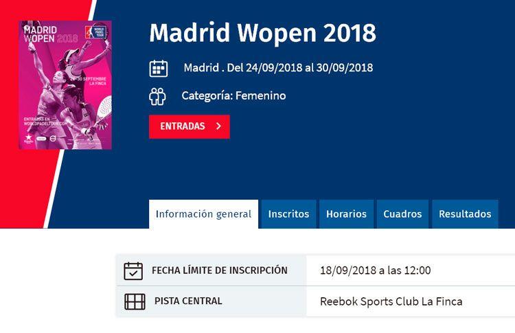 Madrid WOpen: Habrá duelos vibrantes desde los compases iniciales