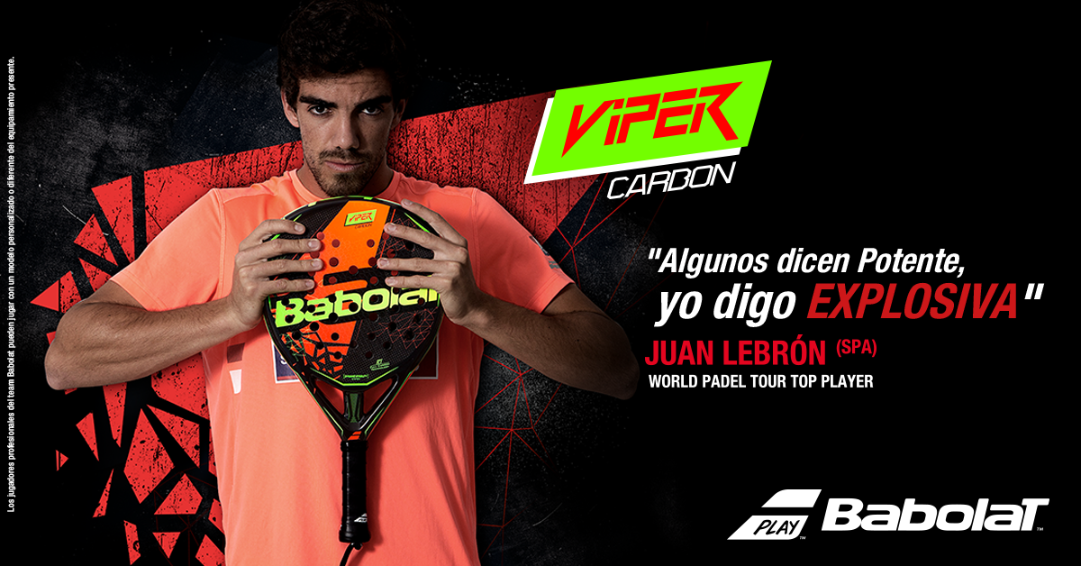 4b8630b49 Equip yourself as Juan Lebrón with Babolat, SNP and Padelmania ...