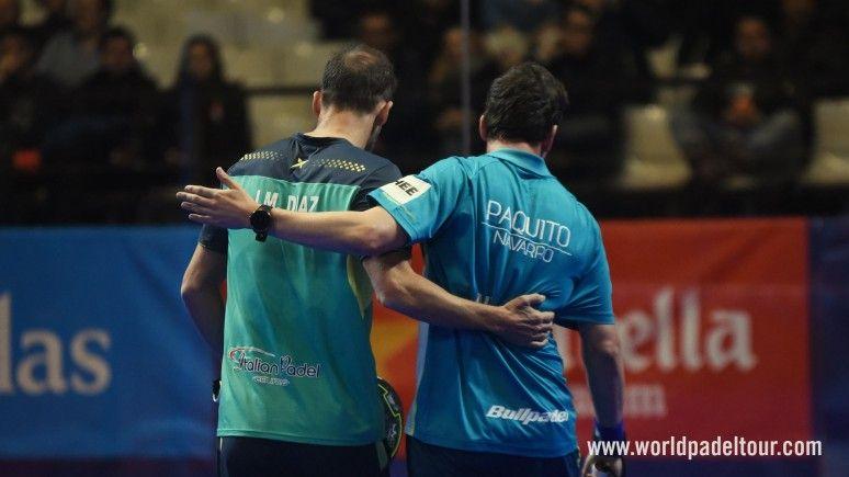 Juan Martín Díaz e Paquito Navarro durante una partita.