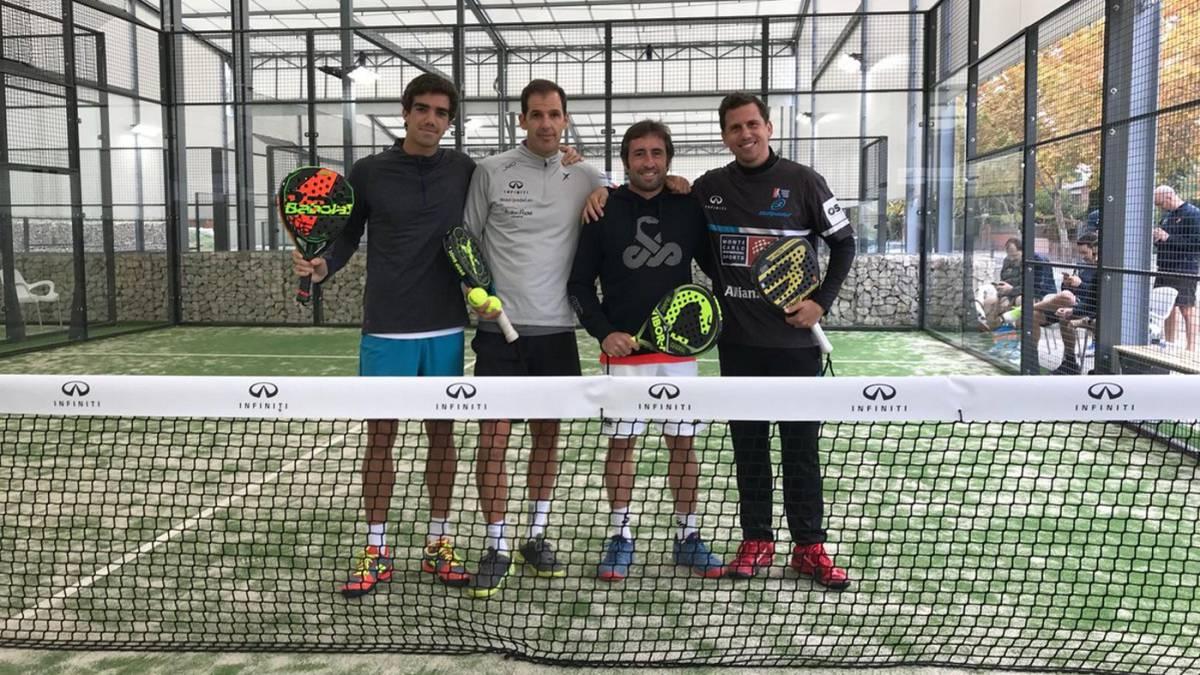 Paquito Navarro, Juan Martín Díaz, Juan Lebrón y Maxi Grabiel en el evento Infiniti.