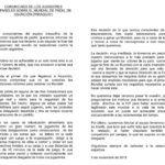 La carta de los jugadores de la FEP.