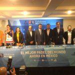 La presentación del Mexico Exhibition del World Padel Tour.