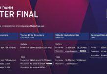 Los horarios del Master Final del World Padel Tour.