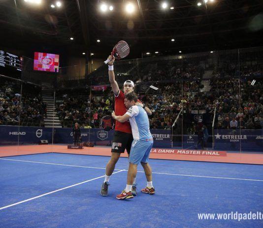 Ale Galán y Matías Díaz en el Master Final.