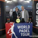 La firma de la renovación de Head con World Padel Tour.