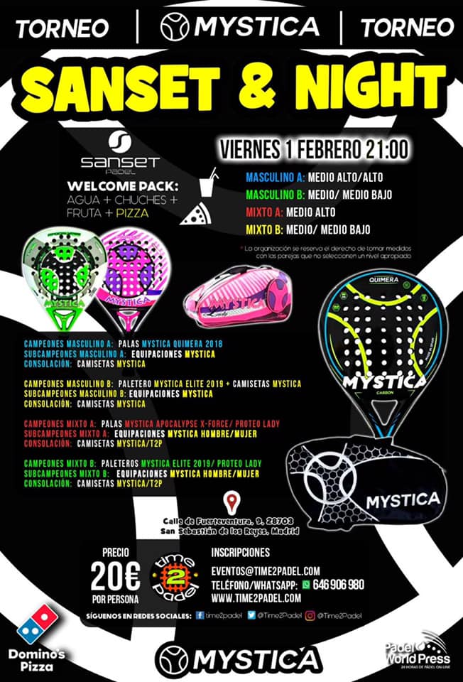 Un nuevo Torneo Mystica con Torneos Time2Padel.