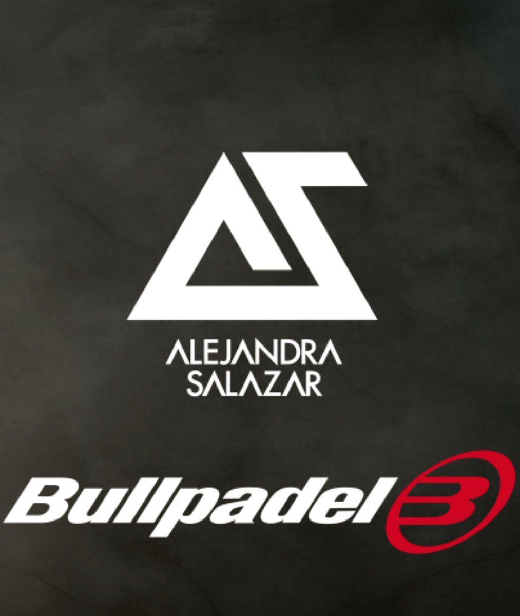 El nuevo logotipo de ALejandra Salazar con Bullpadel.
