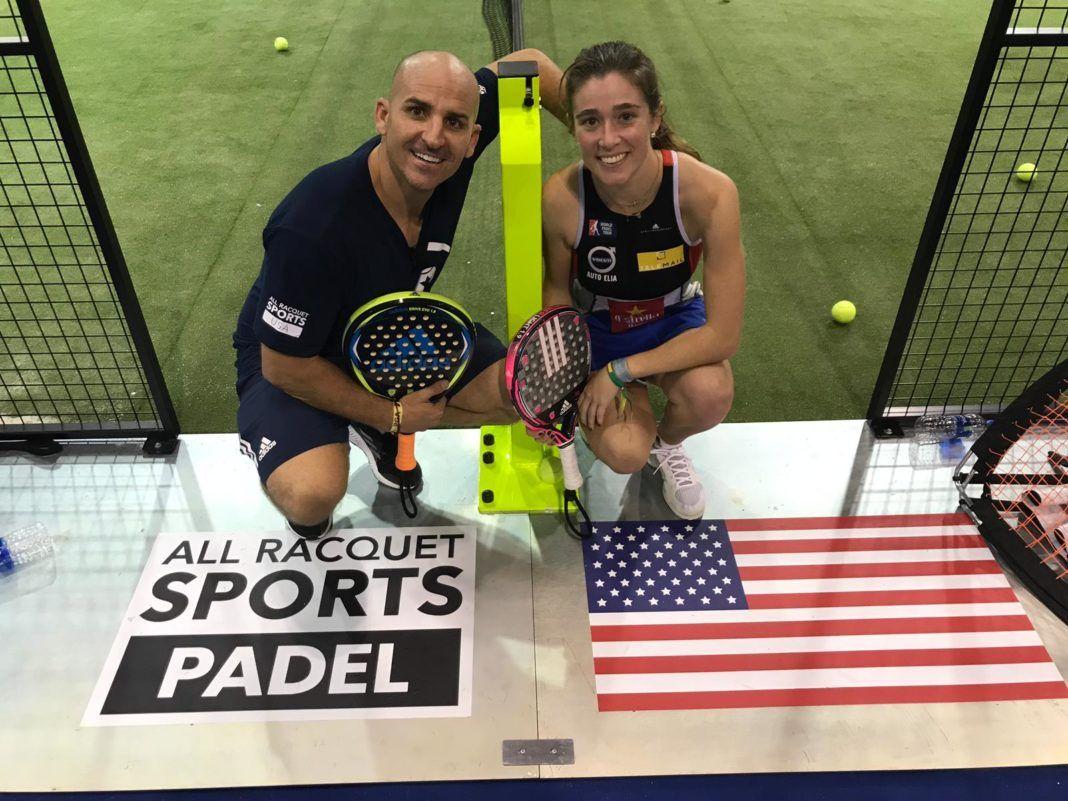 Marcos del Pilar y Marta Ortega en el Racquet Paddle Sport Conference.