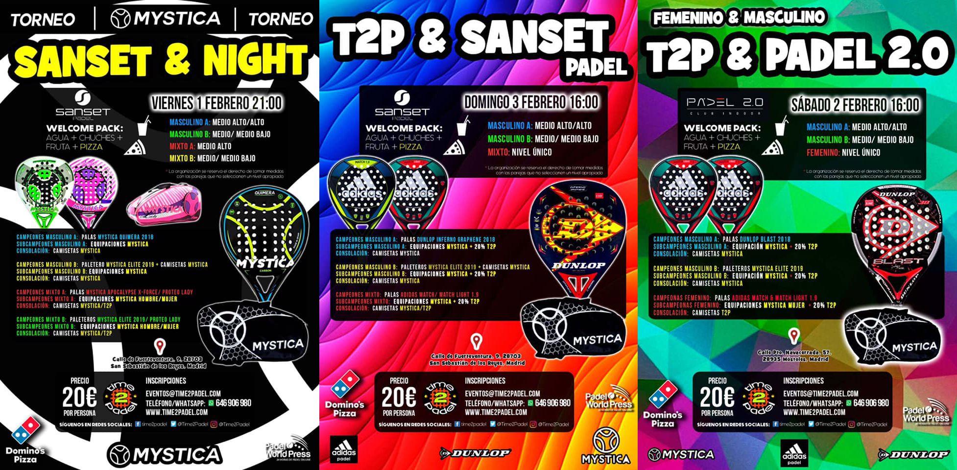 La oferta de Torneos Time2Padel para esta semana.