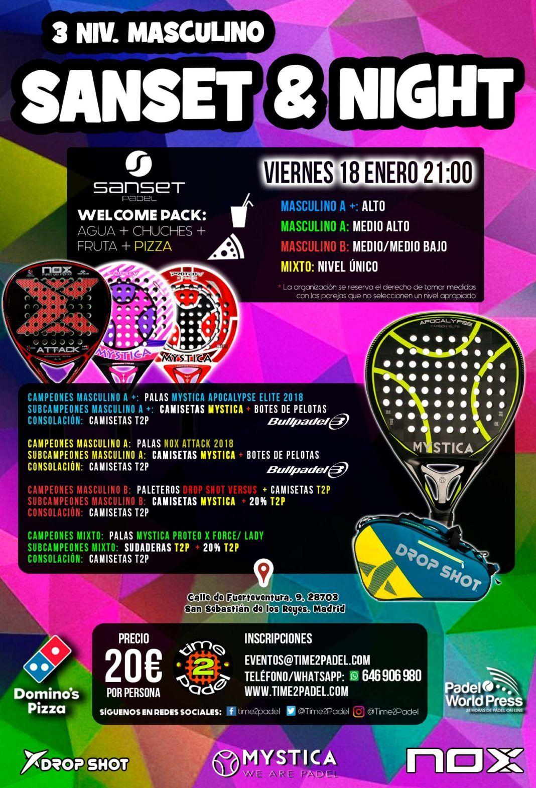 Torneos Time2Padel en Madrid 14 enero