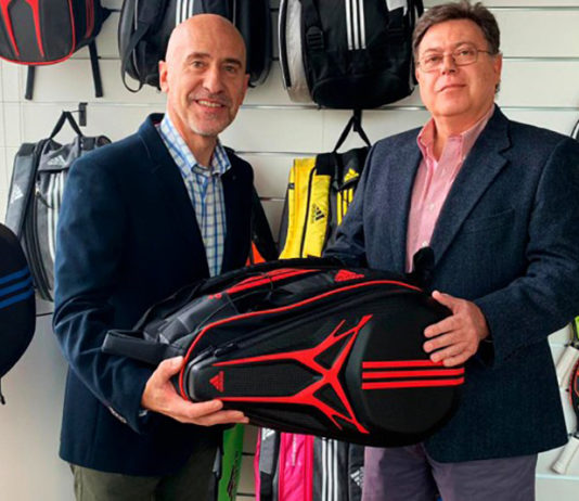 Mario Hernando e José Luis Sicre durante la firma dell'accordo tra Adidas Padel e World Padel Tour.