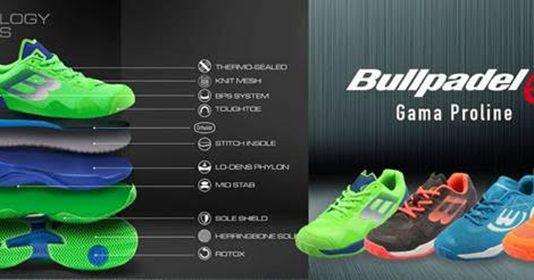 La nuova collezione di scarpe Bullpadel 2019.