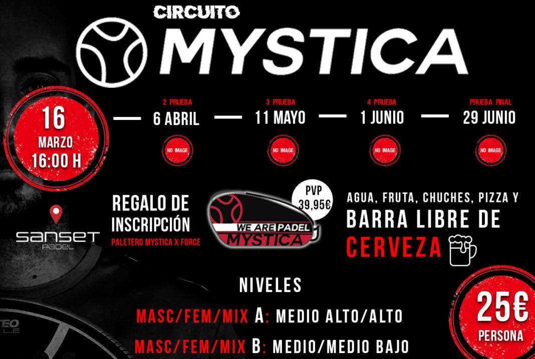 El cartel de la primera prueba del Circuito Mystica.
