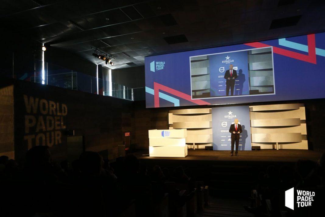 Mario Hernando presenta la gala World Padel Tour. | WPT