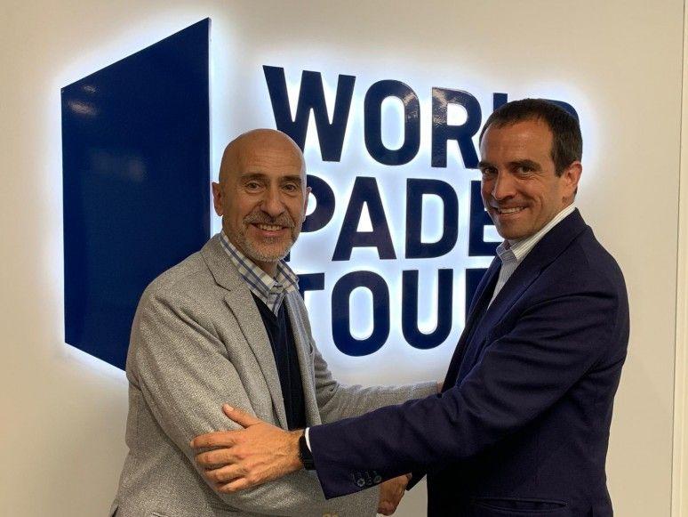 Mario Hernando y Luigi Carraro tras la reunión.