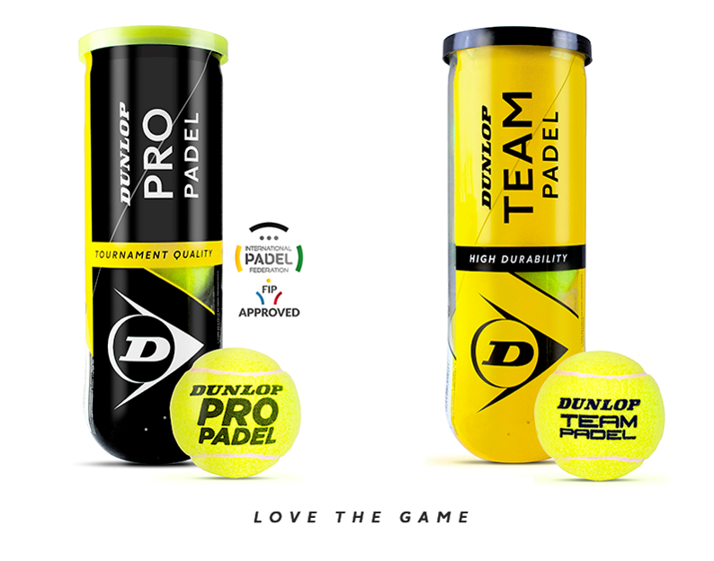 Dunlop Pro Padel y Dunlop Padel Team.