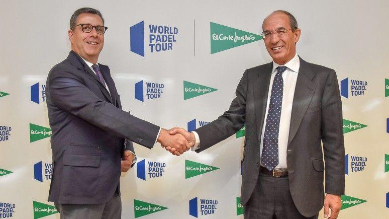 José Luis Serrano, de World Padel Tour, y José Luis González Besada, de El Corte Inglés. | Foto: World Padel Tour