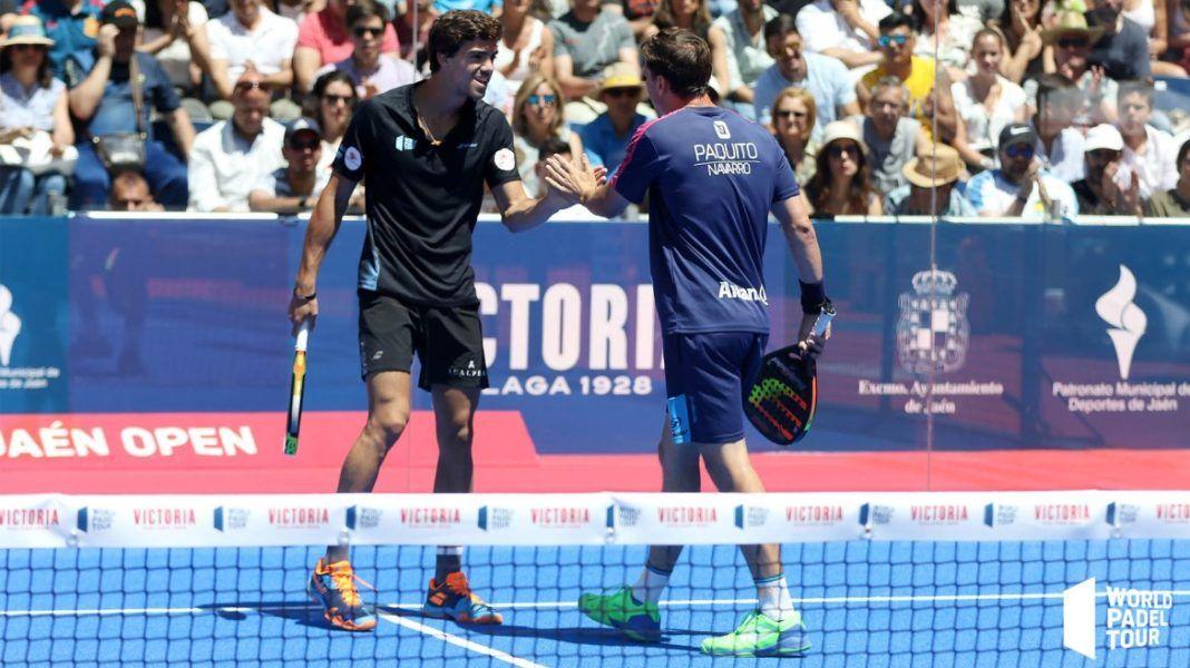 Lebrón y Paquito en el Jaén Open. | Foto: World Padel Tour