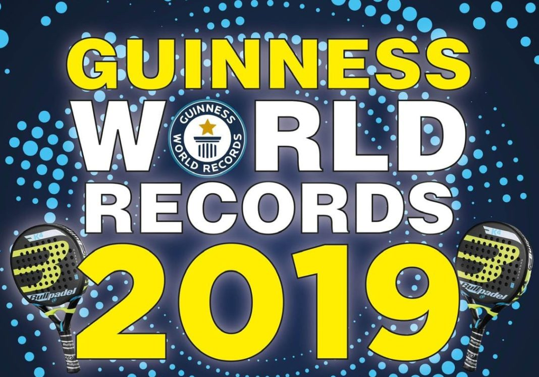 El cartel del Record Guinness.