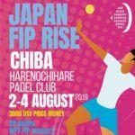El cartel del torneo de Japón del FIP Tour.
