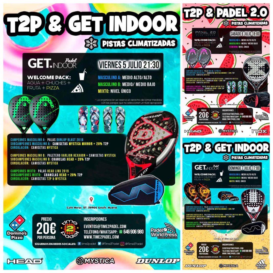 La oferta de Torneos Time2Padel para todo el fin de semana.