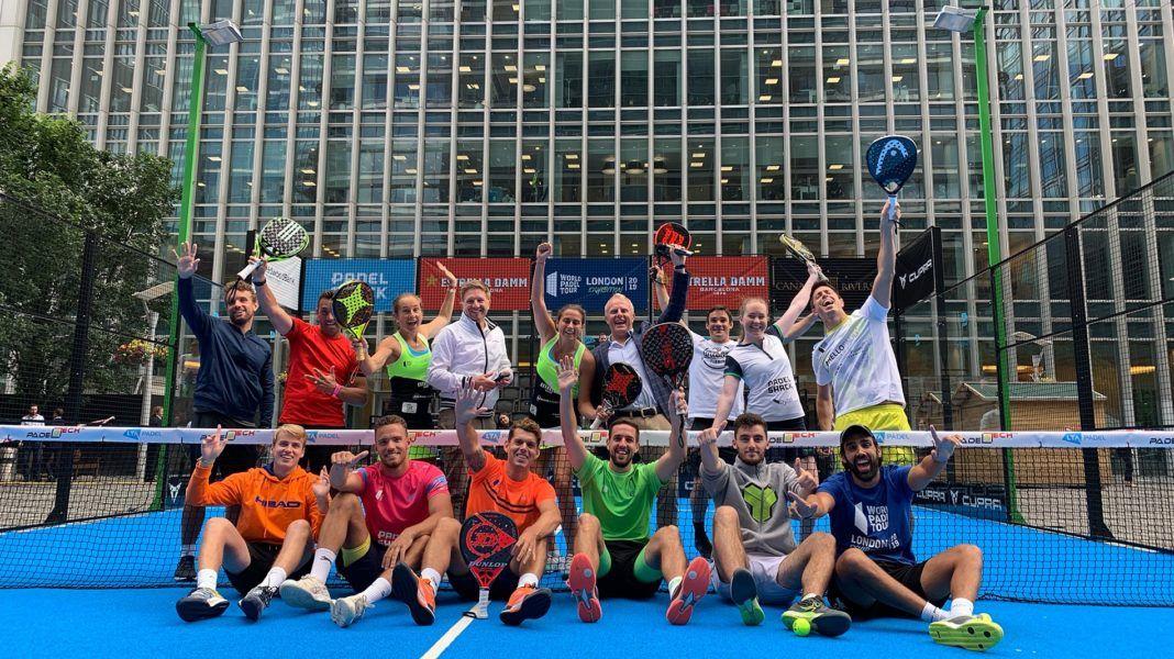 Algunos de los jugadores que participaron en el London Padel Master.   Foto: World Padel Tour