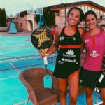Bea González y Delfi Brea en un entreno.