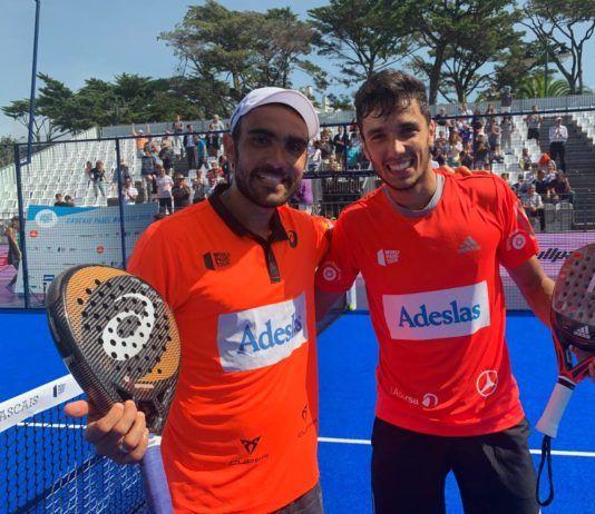 Galán et Lima dans le Master Padel Cascais. | Photo: Tour du monde Padel