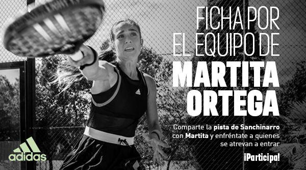 Adidas Padel sortea una plaza para jugar con Martita Ortega.