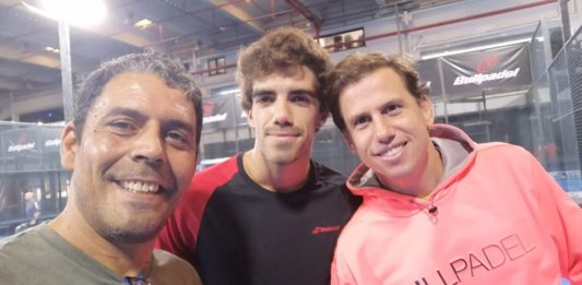 Marcelo Fernández avec Paquito Navarro et Lebrón.