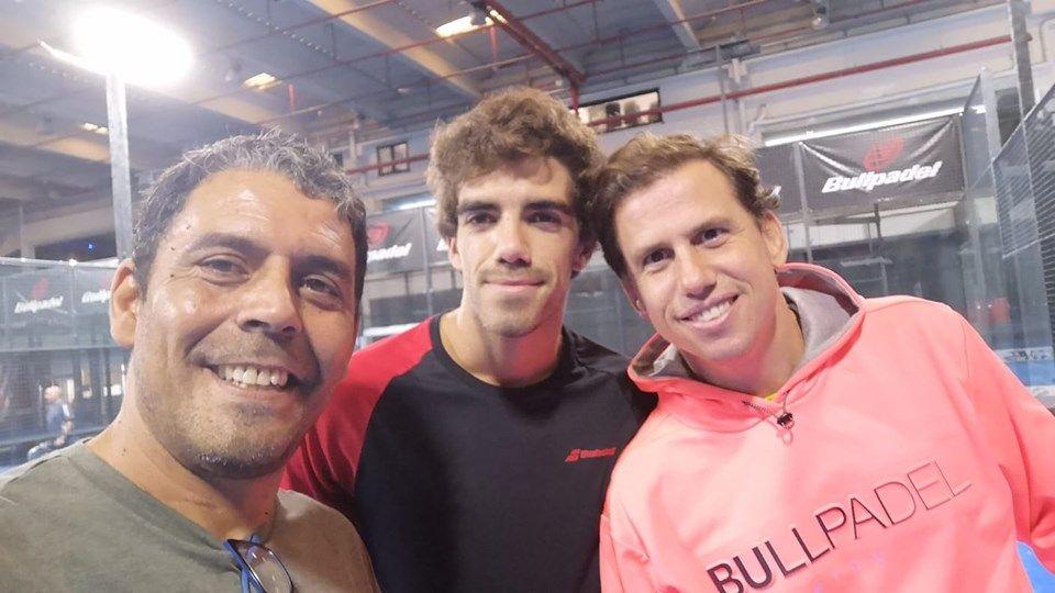 Marcelo Fernández junto a Paquito Navarro y Lebrón.