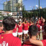 El combinado española de la FEP en el Mundial de Menores.