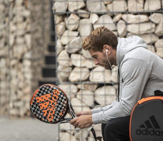 Álex Ruiz en la presentación de la nueva colección Adidas Padel 2020.