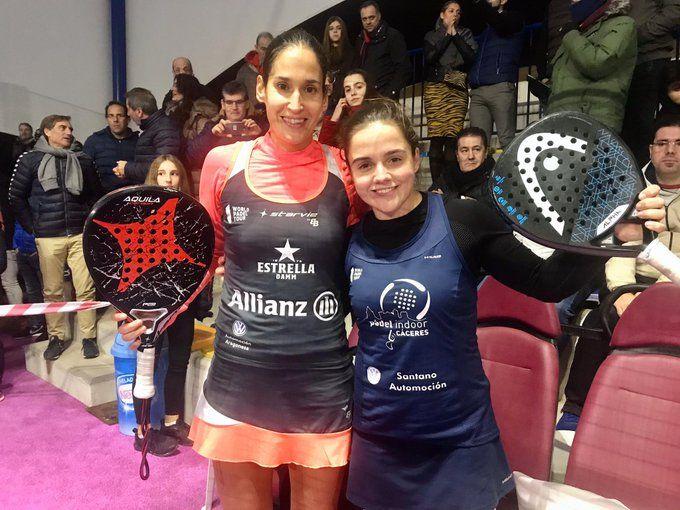 Majo y Josemaría en el Campeonato de España de Pádel. | Foto: FEP