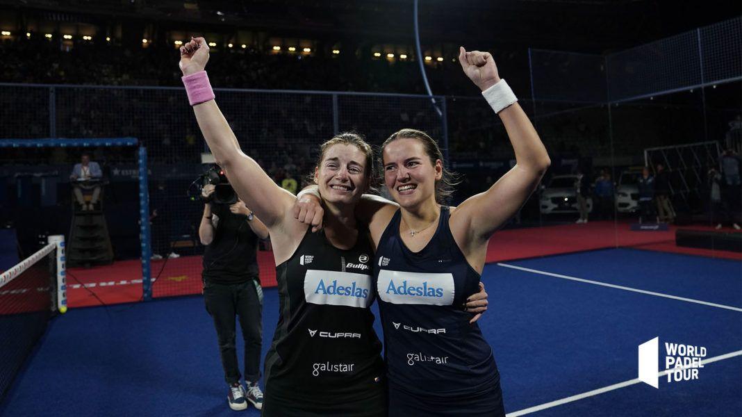 Alejandra Salazar y Ari Sánchez en el Master Final. | Foto World Padel Tour