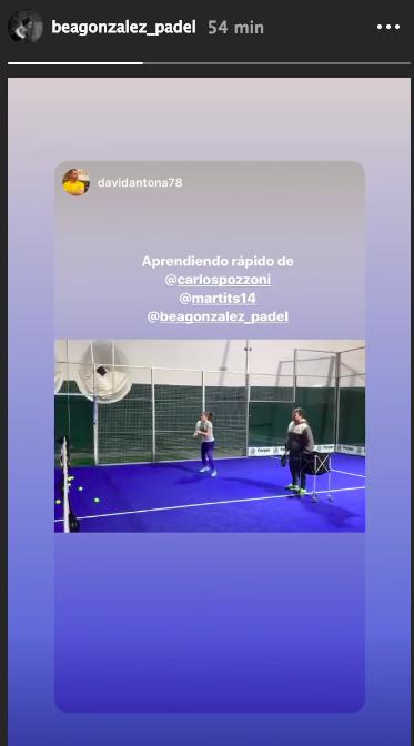 Bea González y Martita Ortega entrenando junto a Carlos Pozzoni.
