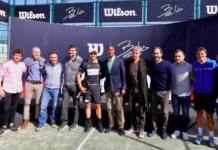 Fernando Belasteguín y la firma internacional Wilson.