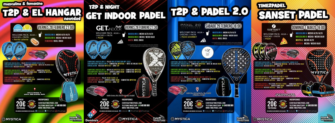La propuesta de torneos de Torneos Time2Padel.