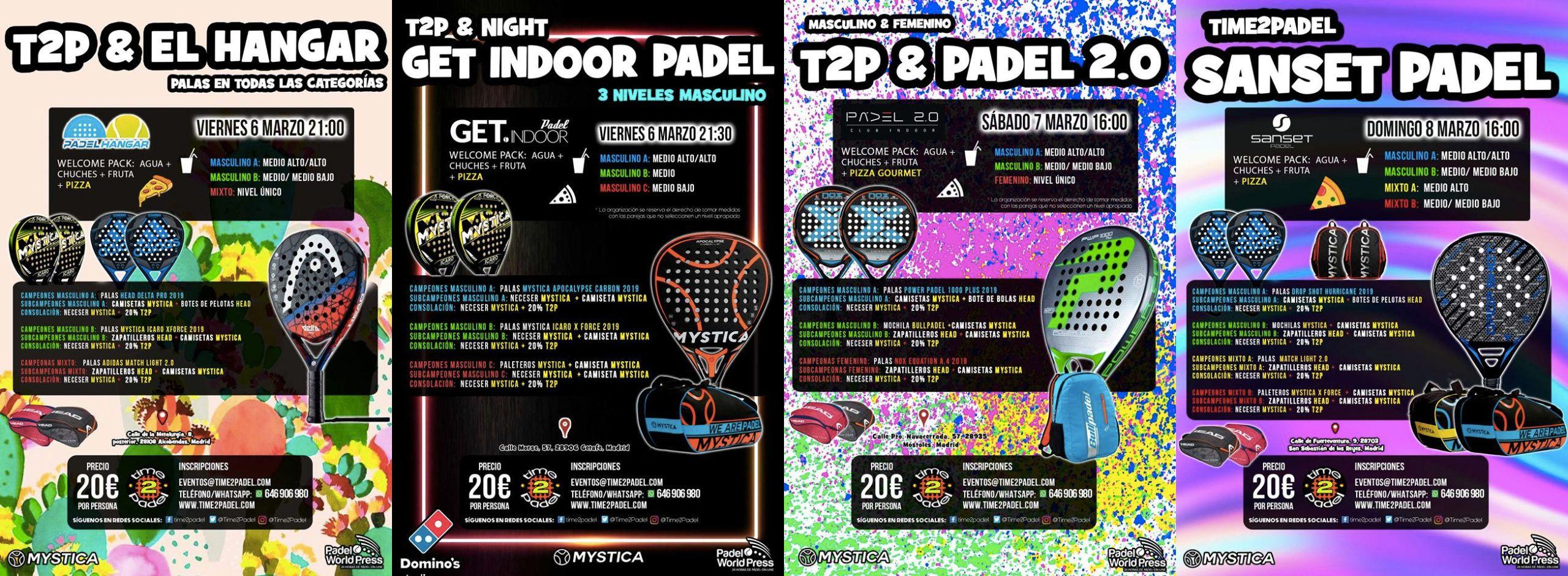 La proposta del torneo Time2Padel Tournament.
