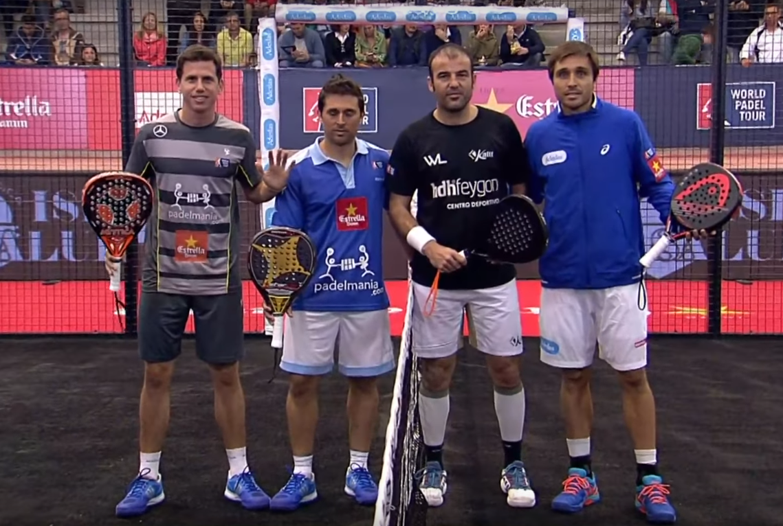 Paquito, Mati, Willy Lahoz y Bela.   Foto: World Padel Tour