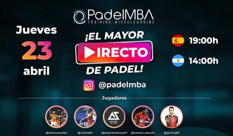 Padel MBA, 'El Mayor Directo del Pádel'.