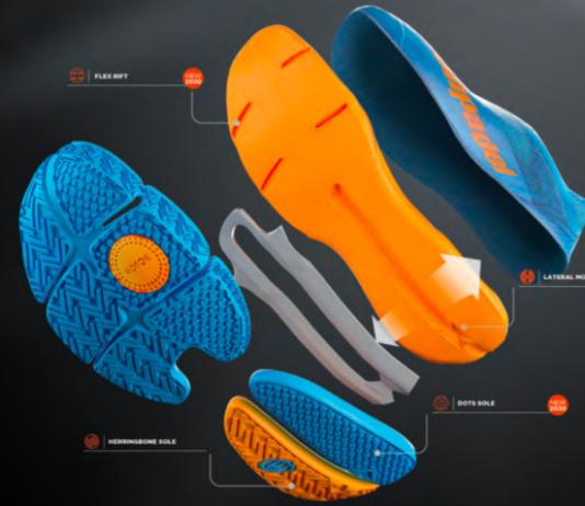 La nueva suela de las zapatillas Bullpadel.